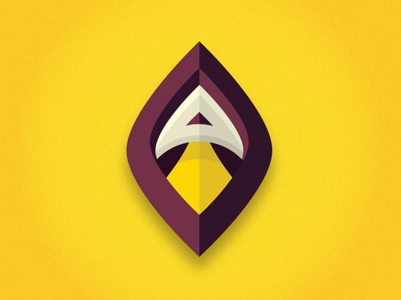 Argos Spaceways rocket argos a purple yellow logo