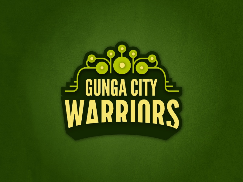 Gunga City Warriors team logo sports hockey underwater jar binks warriors city gunga
