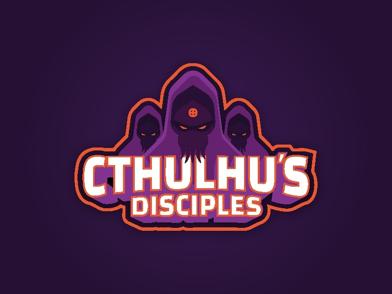 Cthulhu's Disciples purple logo sports team hockey underwater cthulhu disciples