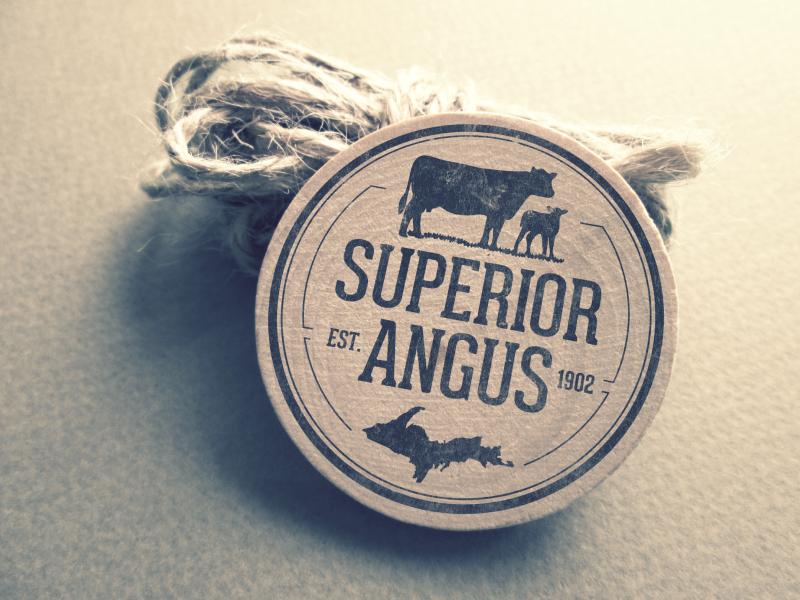 Superior Angus michigan logo farm beef u.p. angus superior