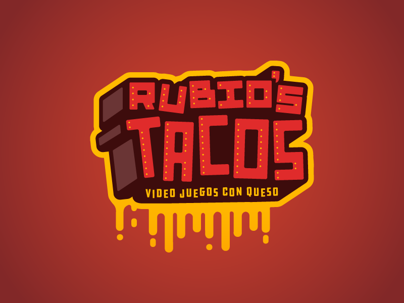 Rubio's Tacos yellow red taco logo cheese tacos