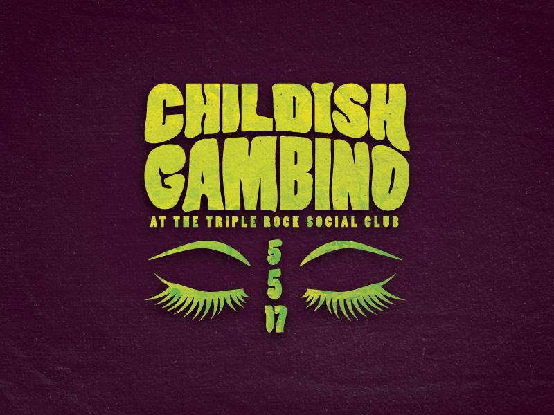 Awaken My Love psychedelic eyes concert childish gambino
