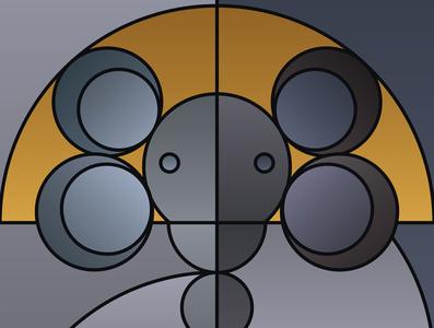 Graphic design minimal posters of animal faces, based on circles yianart.com branding illustration graphics background prints design poster digital art art graphic design