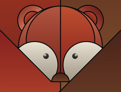 Graphic design minimal posters of animal faces, based on circles illustration design black and white prints fox branding yianart.com brand design brand background vector graphics poster digital art art graphic design