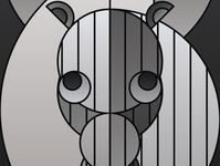 Graphic design minimal posters of animal faces, based on circles zevra horse animinimal yianart.com branding illustration design background vector prints poster digital art art graphic design