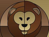 Graphic design minimal posters of animal faces, based on circles lion yianart.com branding illustration background vector graphics poster digital art art graphic design