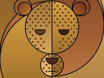Graphic design minimal posters of animal faces, based on circles tiger yianart.com branding illustration background graphics design poster digital art art graphic design