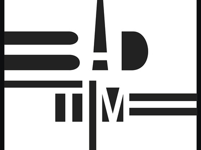 Graphic Design Posters_Bad Time_Yianart,com artistic typo graphic design posters art design graphics bw black and white typography poster graphic design