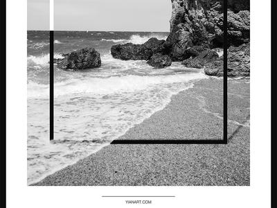Photo Frames_1_Yianart.com graphic design digitaldesign graphics digital bw black and white photography minimal design digital art poster design poster frames