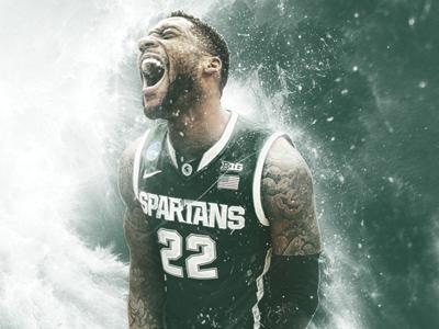 Branden Dawson spartans college basketball big ten msu michigan state