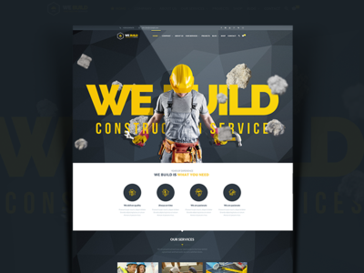 We Build - Construction, Building Premium WordPress Theme plumber painter handyman electrician constructor contractor company build worker building construction wordpress