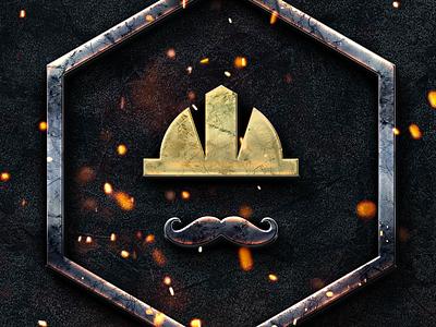 We Build - Construction Logo mustache icon worker renovation logo logo worker logo consctruction logo webuild we build