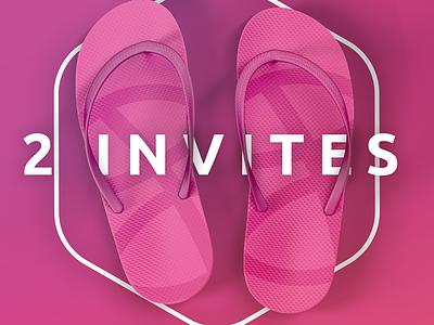 2x Dribbble Invite 2 invitations invitations dribbble invite invitation dribbble invite
