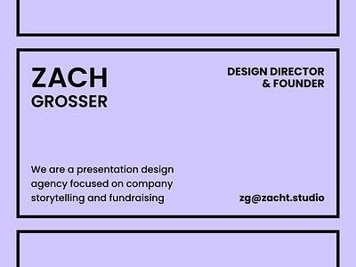 Zacht Studios Rebrand presentation design pitch deck slide agency branding agency logo branding identity rebrand