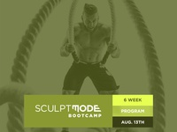 SculptMode Fitness Brand Example