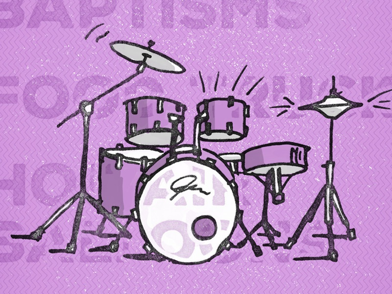 Party on the Lawn Drums picnic festival party music ink drums illustration