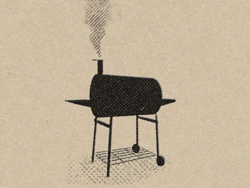 Grill Dribbble barbeque cookout bbq picnic illustration grill