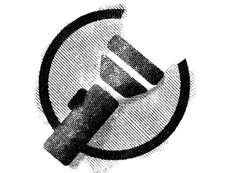 Flashlight camping flashlight engraving illustration