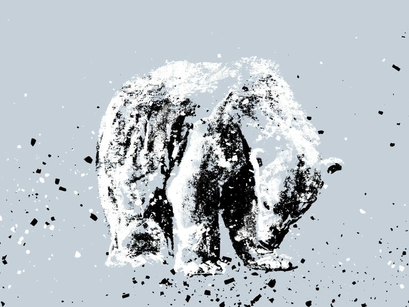 Polar Bear nature illustrations blue drawing art animals 2d iceberg ice caps cold ice north pole polar bear bear illustration charcoal