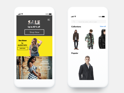 eCommerce Designs mcommerce android iphone ios ecommerce mobile commerce