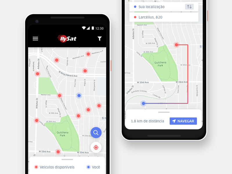 Bysat Android App by Dhiego Corrêa on Dribbble