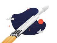 Falcon Heavy illustration