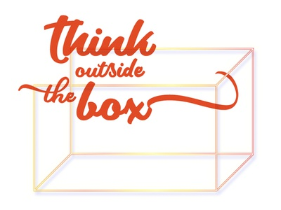 Think Outside The Box typography design