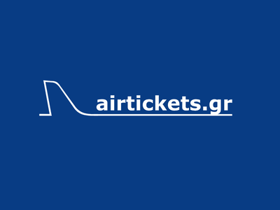 Airtickets.gr Logo (First Release, 2001) logo visual identity corporate identity airtickets.gr