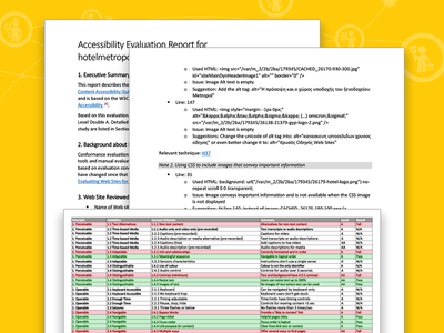 Accessibility Evaluation Report greek yellow pages accessibility evaluation report web accessibility