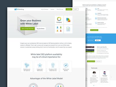 Whitelabel simple clean web gif blue flat landing page