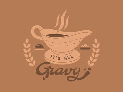 It's All Gravy lettering thanksgiving