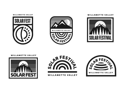Colorless Concepts black and white simple lockup solar eclipse logo logos badge