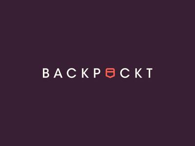 Backpockt Logo avant garde clean simple lock ups logos logotype brand branding identity lock up logo