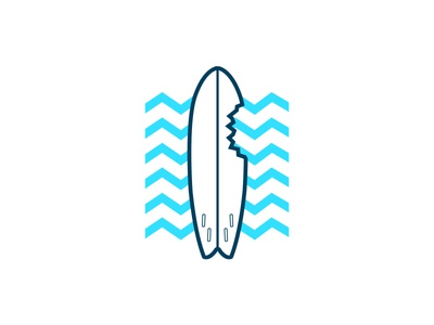 Surf Cuba T-Shirt Design t-shirt illustration shark bite shark surf board surfing surf surf cuba