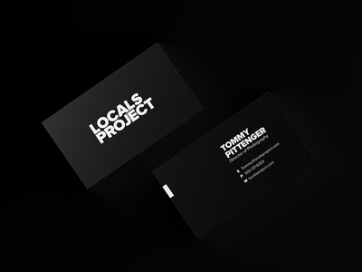 Locals Project Business Cards brand branding print white black simple clean bold black and white business cards business card