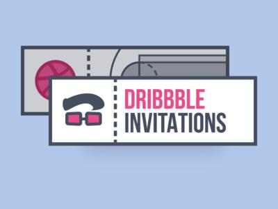 Dribbble Invitations illustration new draft ticket invitation invite