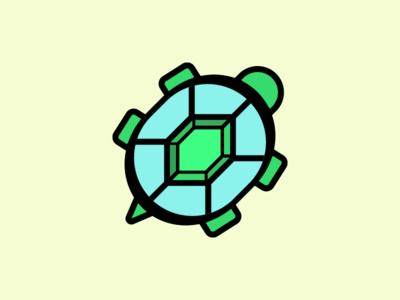 Turtle Gem illustration gem turtle