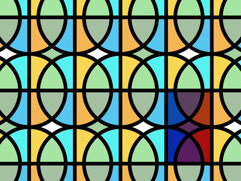 Basketball Glass repeat tile stained glass pattern basketball