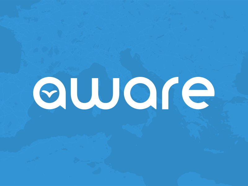 Aware logo blue