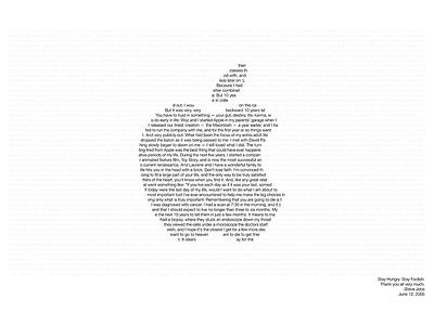 Steve Jobs Commencement Speech Poster inspiration speech graduation commencement apple stanford steve jobs