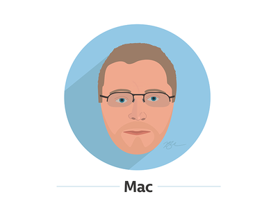 Mac face portrait illustration mac