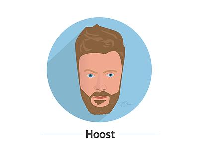 Hoost self portrait illustration face