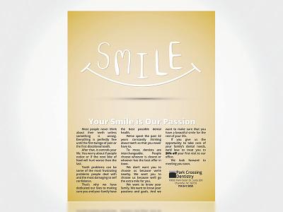 Park Crossing Dentistry Magazine Ad illustrator graphic design smile dentist full page print ad advertising magazine