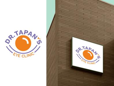 Dr Tapan's Eye Clinic Logo eye logo logo design logotype logo logodesign