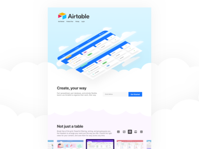 Airtable Product Landing Page