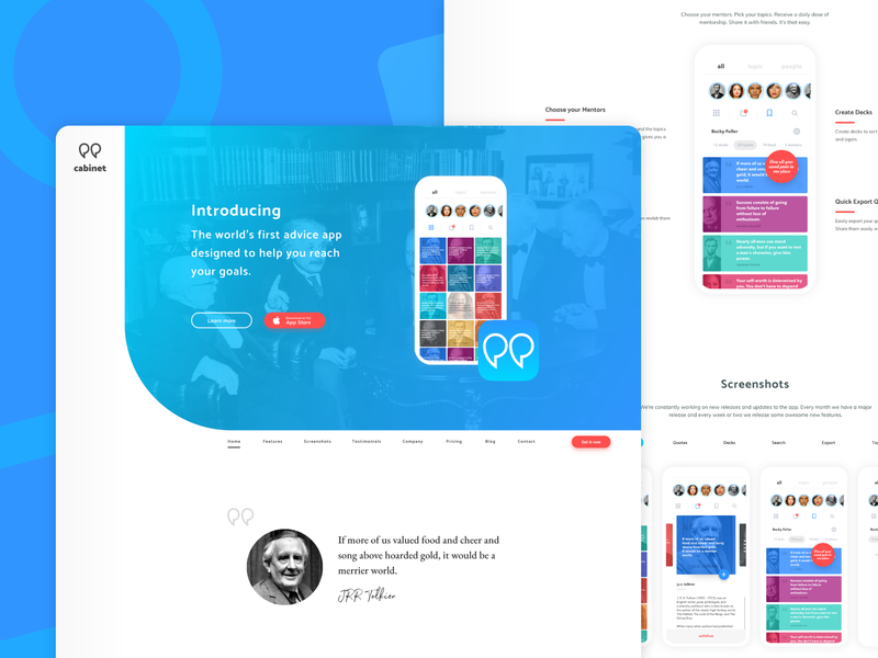 #003 Daily UI Website Above the Fold advice app icon quotes web desgin ui ux web app logo website