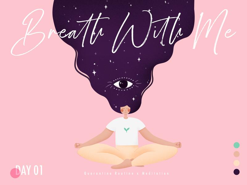 meditation illustration color palette layout typography art illustrator ui minimal flat vector design illustration