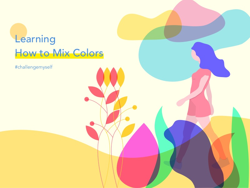Learning Mix Colors 01 trend oneshot intensively idea learning supercolor myself challenge mix multi color