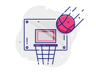 Basketball Illustration basket basketballicon basketball dribbble logo art iconography button commision work brand vector design illustration icon design icon flat design graphic design