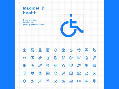 Medical & Health Icon flat commision work icon app button app web ux ui art brand iconography vector icon design design illustration icon flat design graphic design health icon medical icon